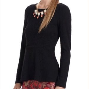 Anthro Peplum Bow Blouse